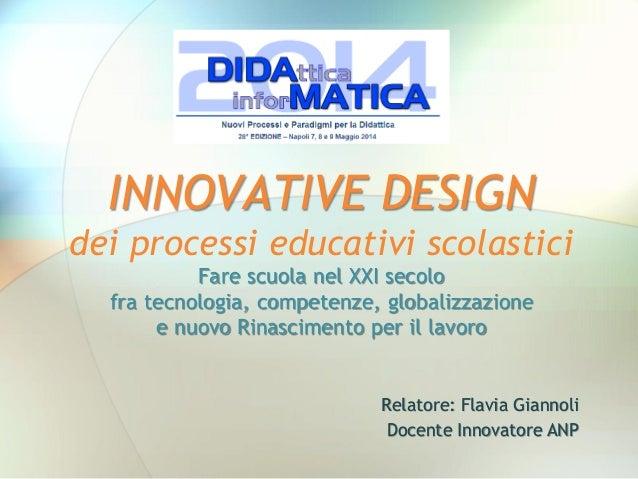 Innovative Design a Didamatica 2014