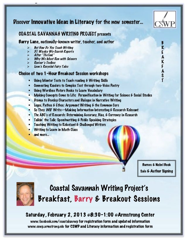 Innovative ideas in literacy conference flyer
