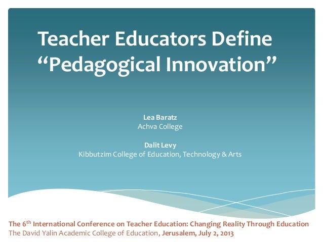 Innovative Classroom Teaching Practice ~ Innovation pedagogy