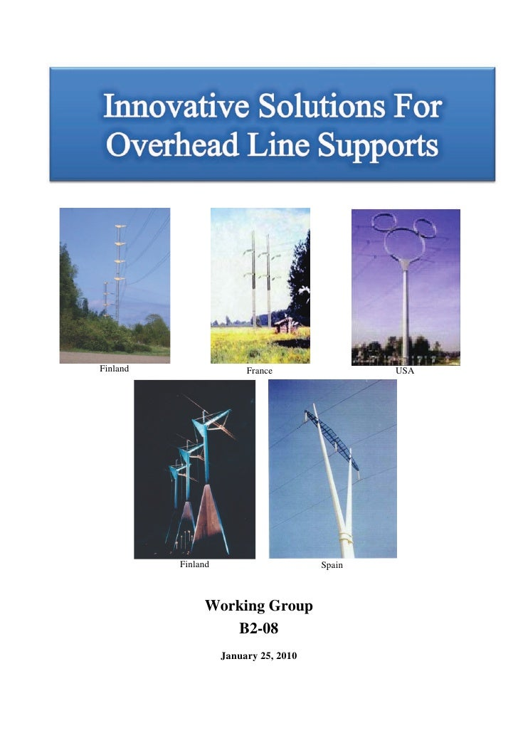 Rapport du CIGRE : Innovative solutions for overhead lines supports version-integrale-anglais