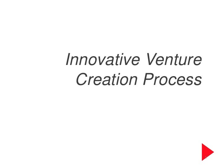 Innovative venture creation process
