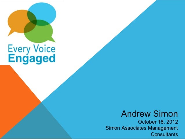 Andrew Simon            October 18, 2012Simon Associates Management                  Consultants