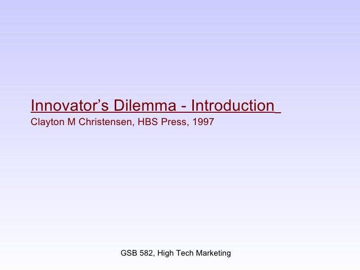 Innovators Dilemma Slides