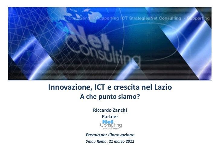 Innovazione ict e crescita nel lazio_SMAU 21 marzo