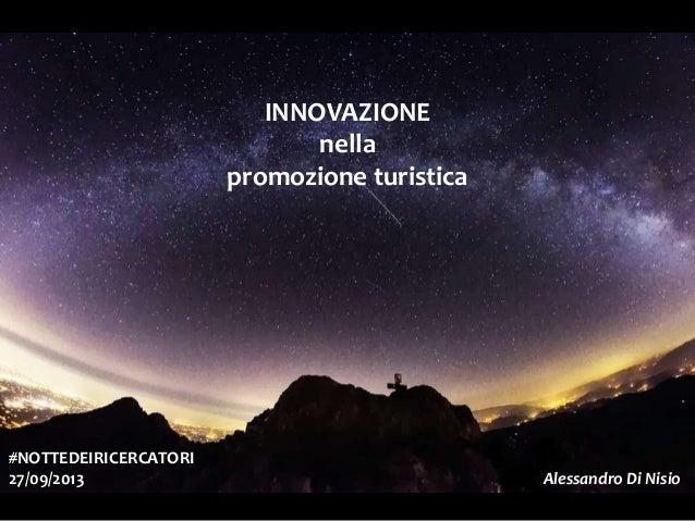 Innovazione nella promozione turistica