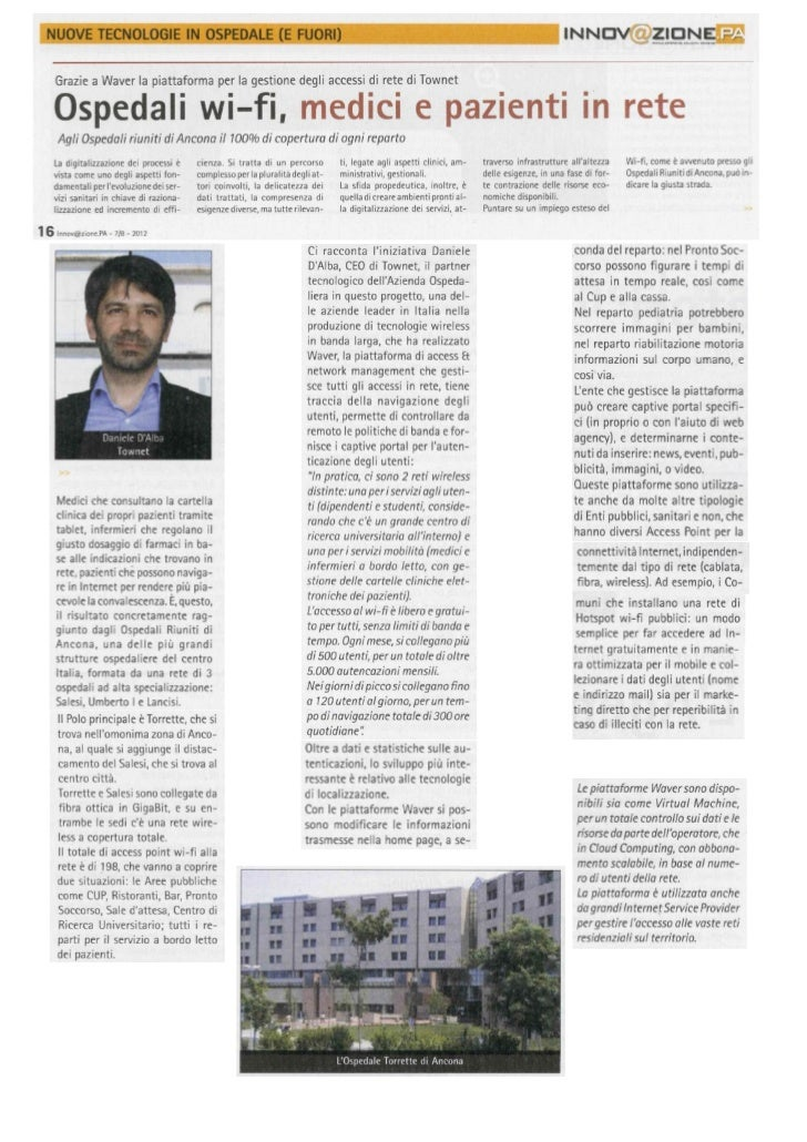 Ospedali wi-fi, medici e pazienti in rete