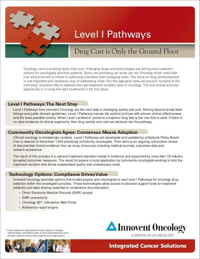 Level I Pathways                                                                     Drug Cost is Only the Ground Floor   ...