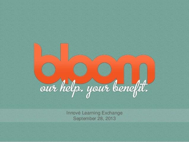 Innové Learning Exchange September 28, 2013