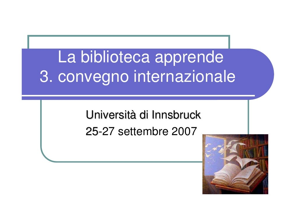 Innovative forme di apprendimento in biblioteca