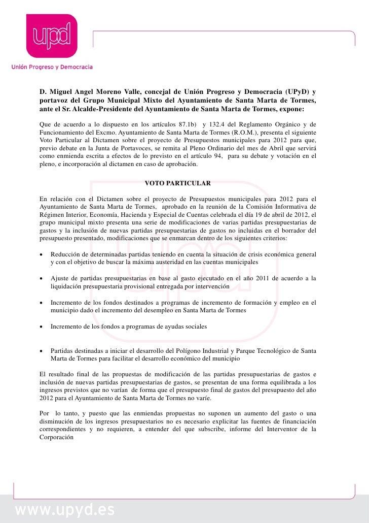 D. Miguel Angel Moreno Valle, concejal de Unión Progreso y Democracia (UPyD) yportavoz del Grupo Municipal Mixto del Ayunt...