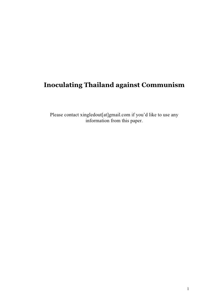 Inoculating Thailand against Communism Please contact xingledout[at]gmail.com if you'd like to use any                   i...