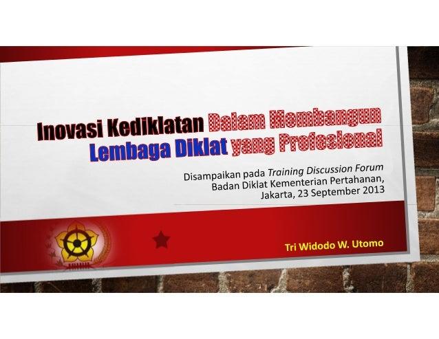 Nama : Tri Widodo W. Utomo, SH.,MA TTL : Yogyakarta, 15-07-1968 Nip : 19680715 199401 1 001 Jabatan : Kepala Pusat Kajian ...