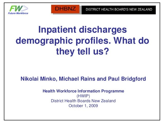 Inpatient Discharges Demographic Profiles - What Do They Tell Us?