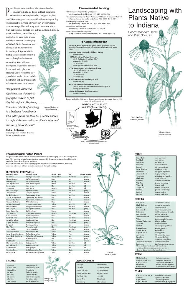 Gardening with Native Plants - Indiana
