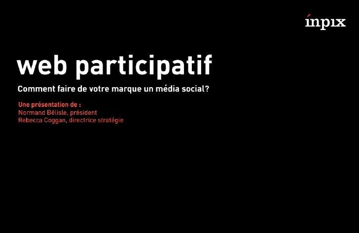 Web participatif par Inpix