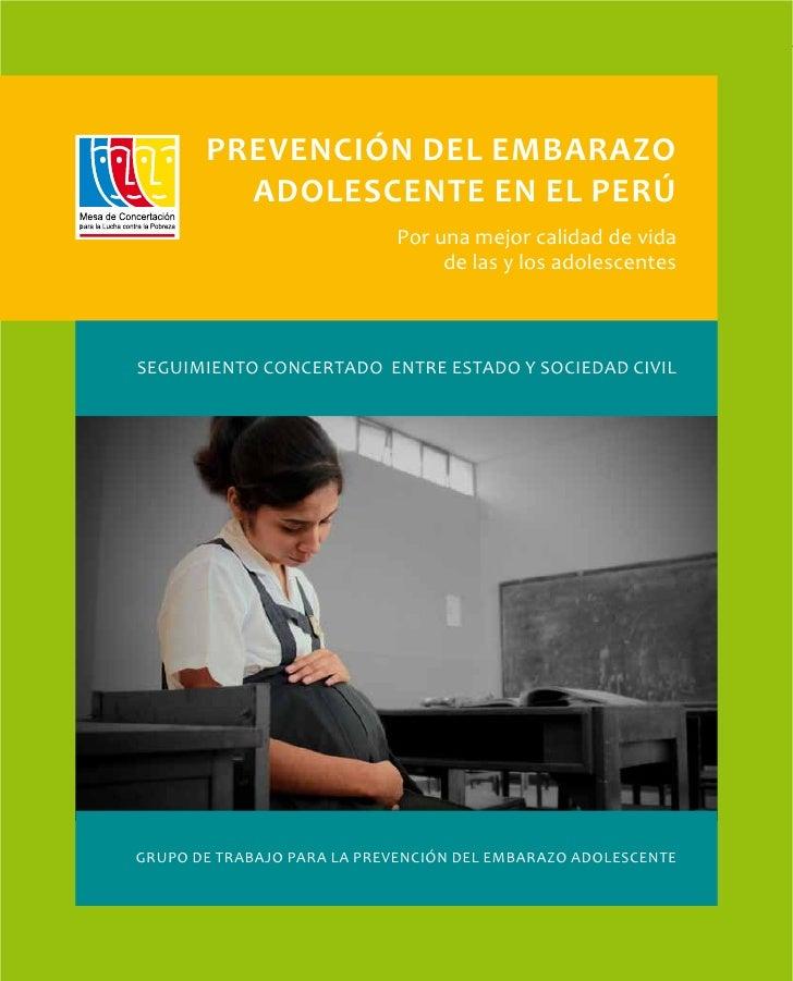 1       Prevención del embarazo         adolescente en el Perú                            Por una mejor calidad de vida   ...
