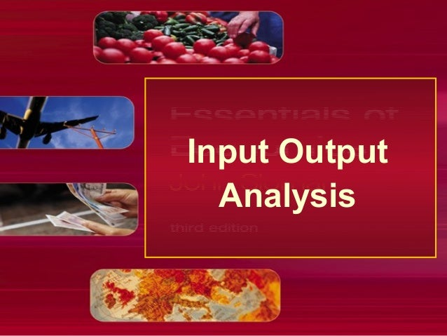 Input output analysis by roni bhowmik