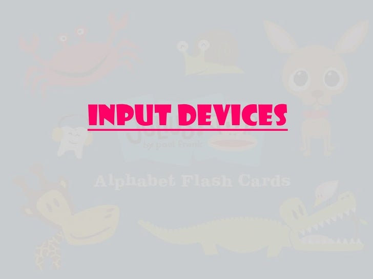 INPUT DEVICES<br />