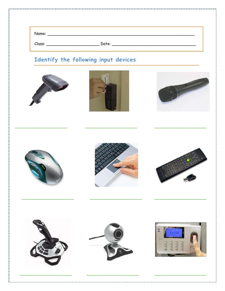 input devices Definition: an input device is the component of an accounting system that captures information from source documents and transfers the data to information processors.