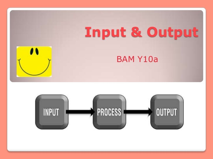 Input & Output   BAM Y10a