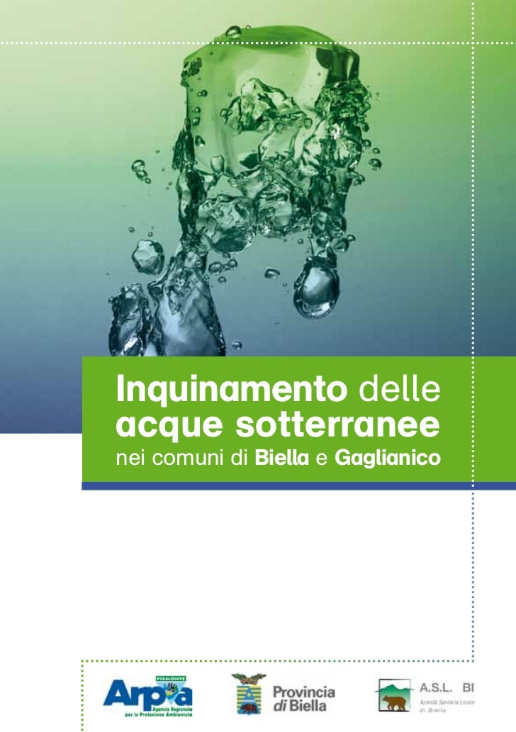 Inquinamento delleacque sotterraneenei comuni di Biella e Gaglianico