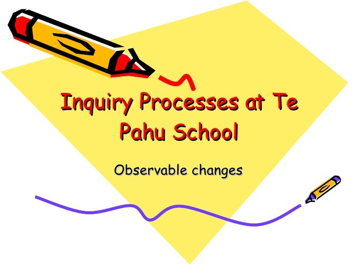 Inquiry Processes at Te Pahu School Observable changes