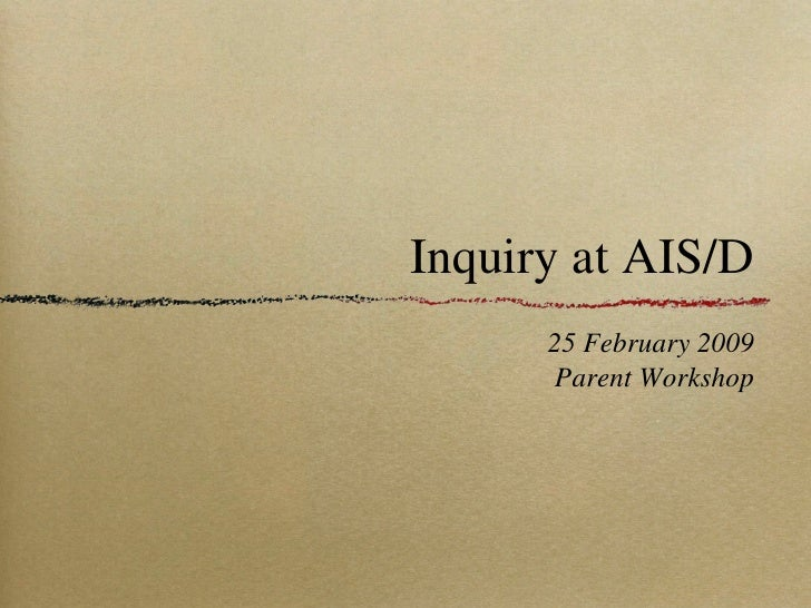 Inquiry in PYP for parents