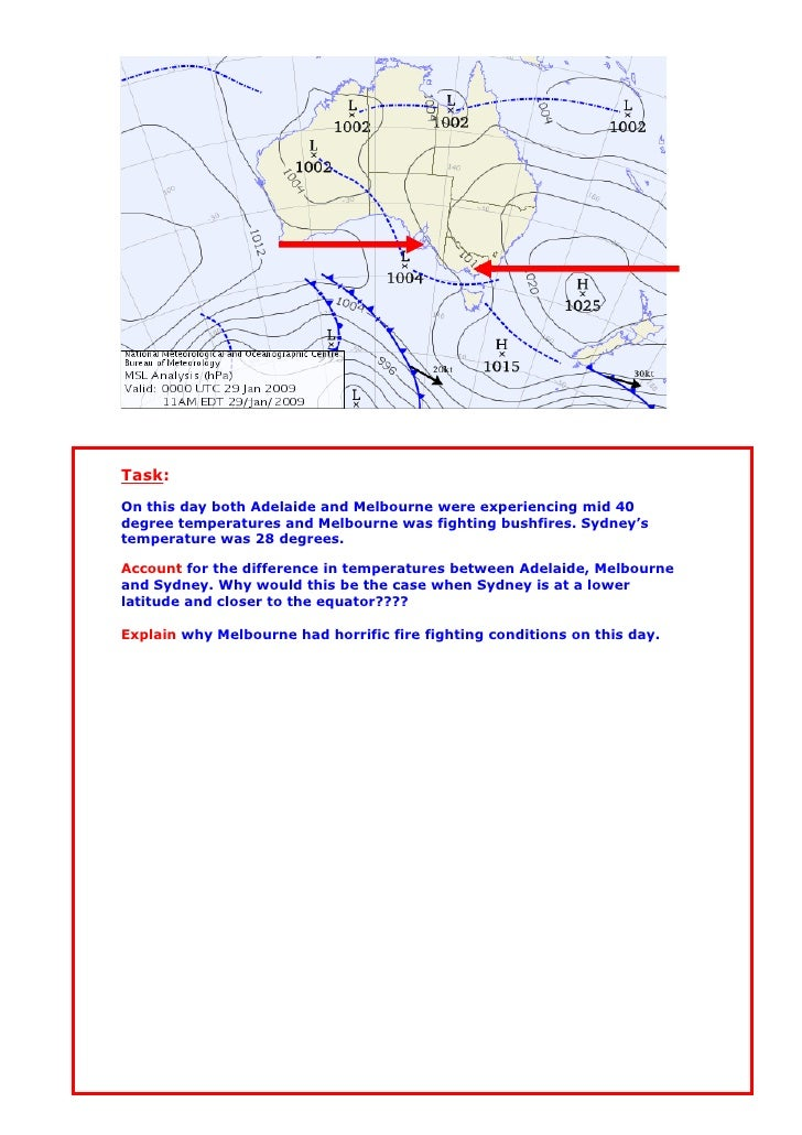Task: On this day both Adelaide and Melbourne were experiencing mid 40 degree temperatures and Melbourne was fighting bush...