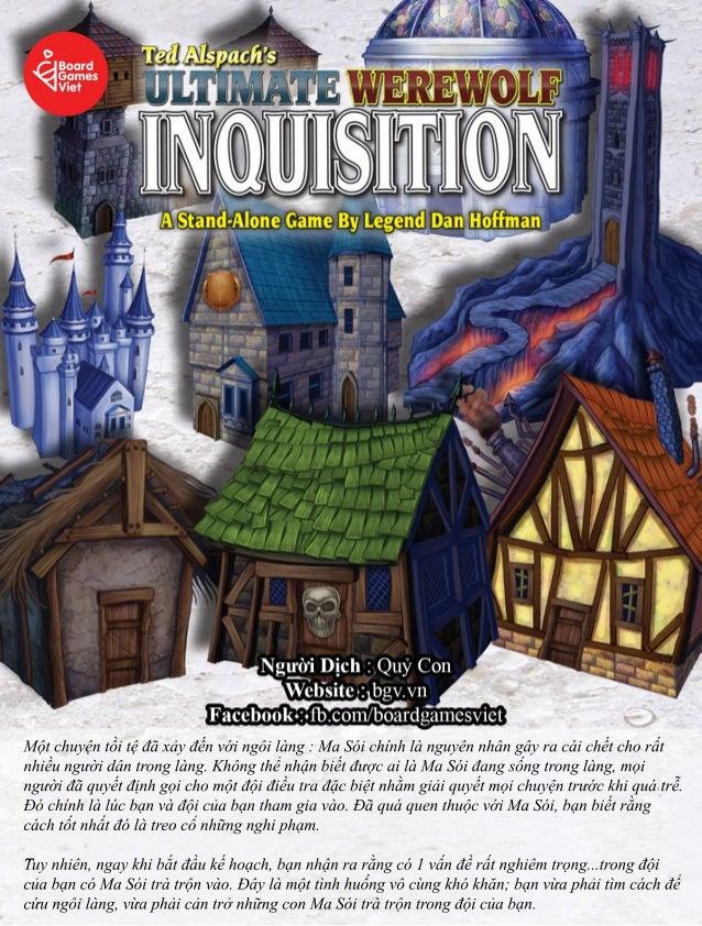 Luật chơi Ma Sói Ultimate Inquisition - Ma Sói nhiều đêm ít người nhưng không ai chết