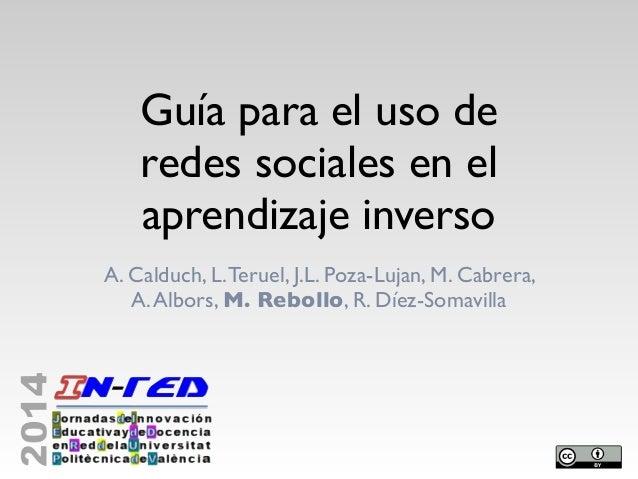 Guía para el uso de redes sociales en el aprendizaje inverso