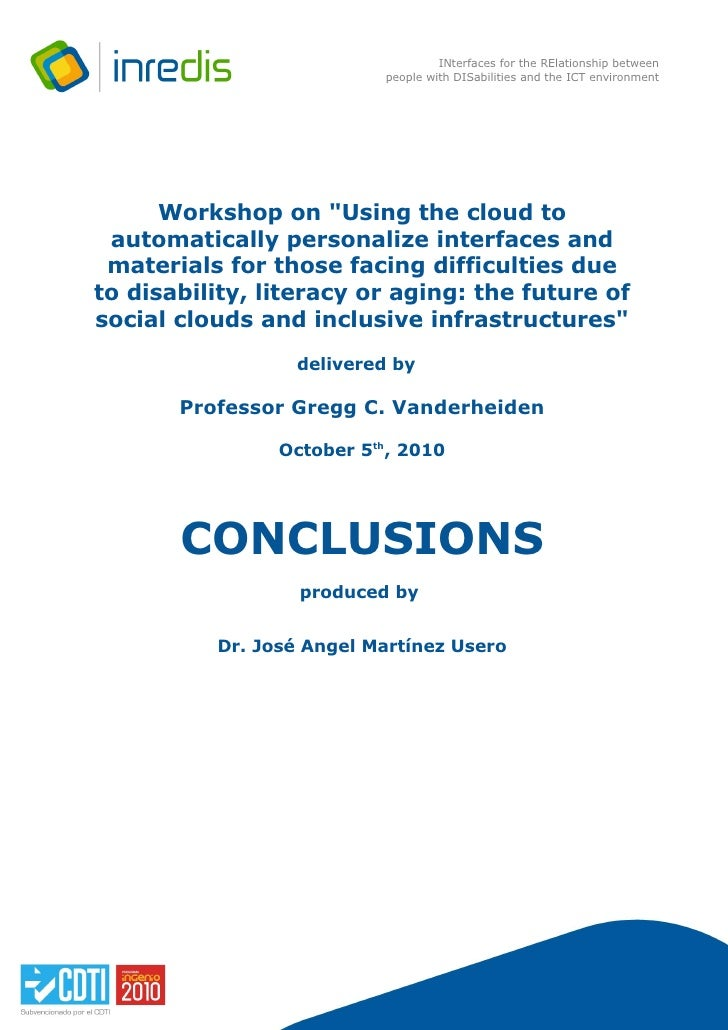 INterfaces for the RElationship between                           people with DISabilities and the ICT environment        ...