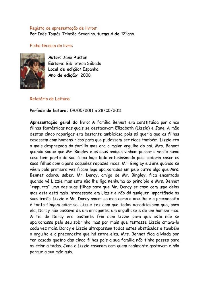 Registo de apresentação de livros:Por Inês Tomás Trincão Severino, turma A do 12ºanoFicha técnica do livro:         Autor:...