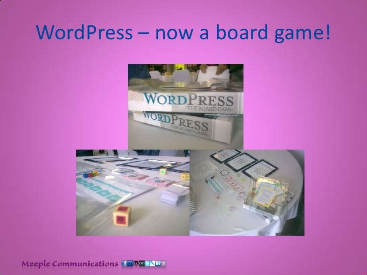 WordPress – now a board game!<br />