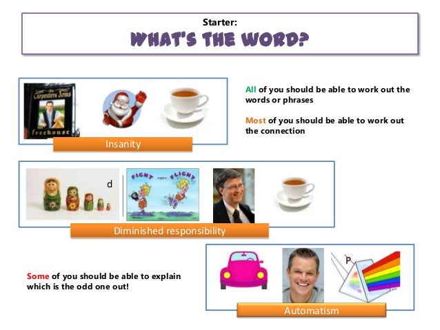 Starter:  What's the word? All of you should be able to work out the words or phrases Most of you should be able to work o...