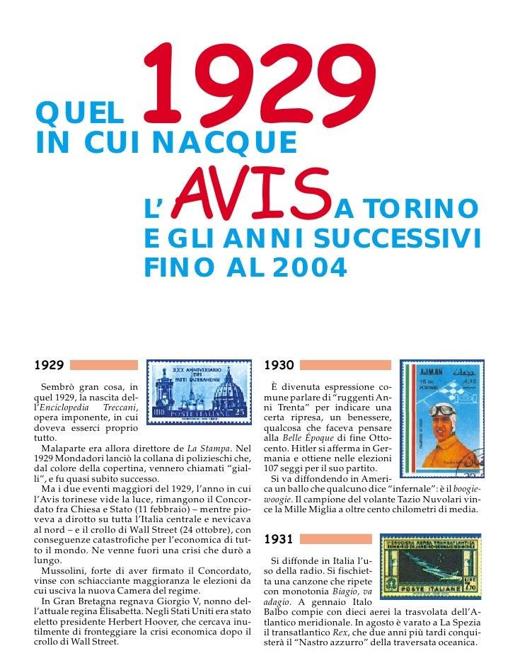 QUEL IN CUI NACQUE                          1929                             L'    AVIS  A TORINO                         ...