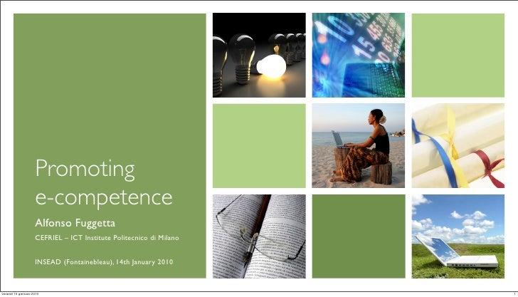Promoting e-competence