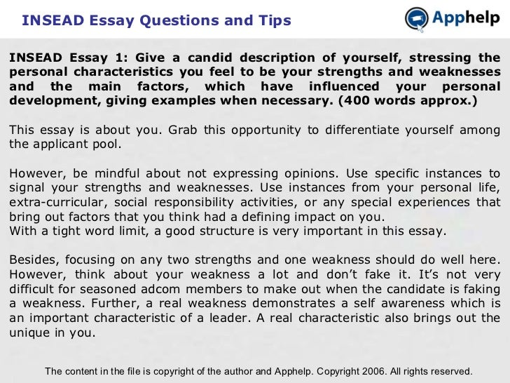Examples of essays about yourself