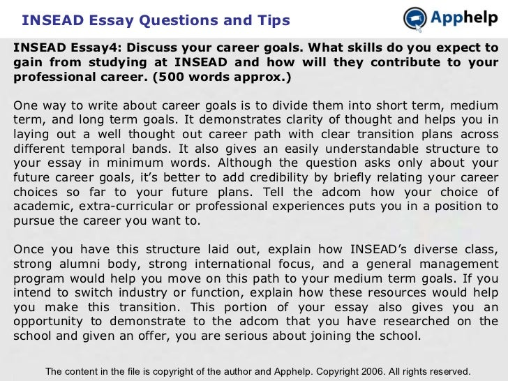 mba application essay questions Application essay question  beyond talking generically about your mba, every  application essay must be individually tailored to the particular.