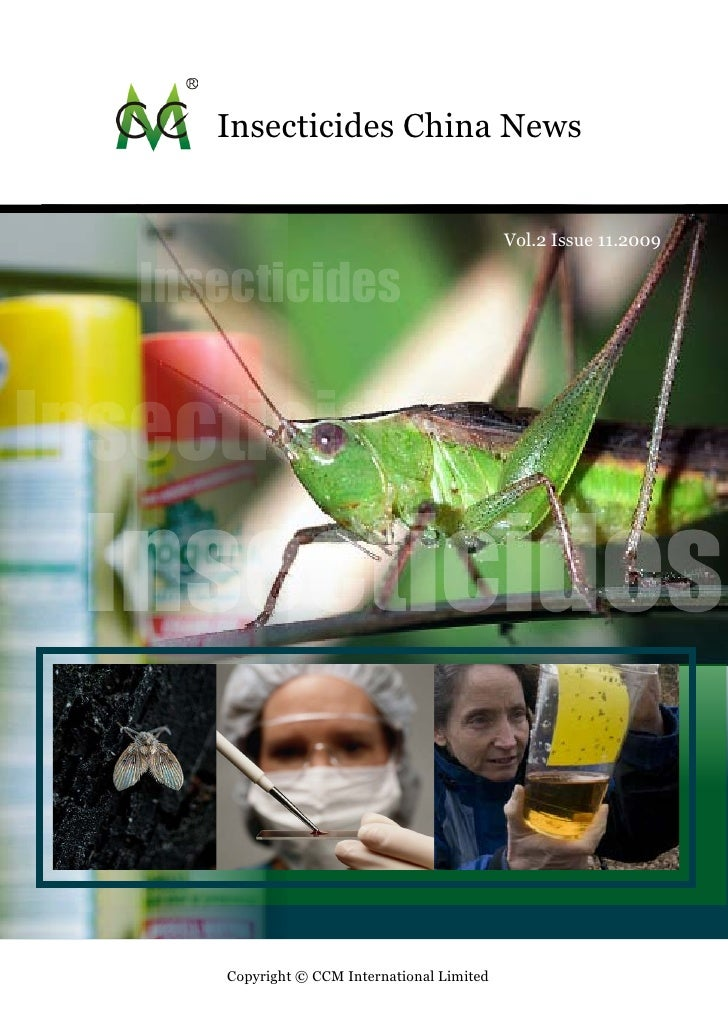 Insecticides China News Sample - Published by CCM International Ltd