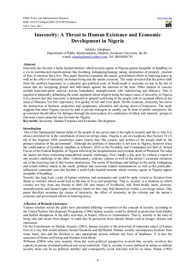 Public Policy and Administration Research www.iiste.org ISSN 2224-5731(Paper) ISSN 2225-0972(Online) Vol.3, No.6, 2013 8 I...