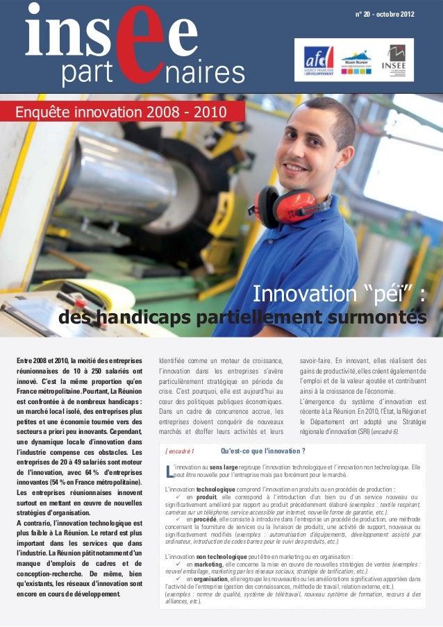 n° 20 - octobre 2012Enquête innovation 2008 - 2010                                                                        ...
