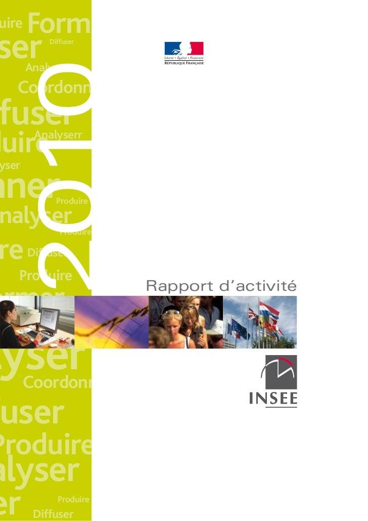 Insee rapport activité 2010