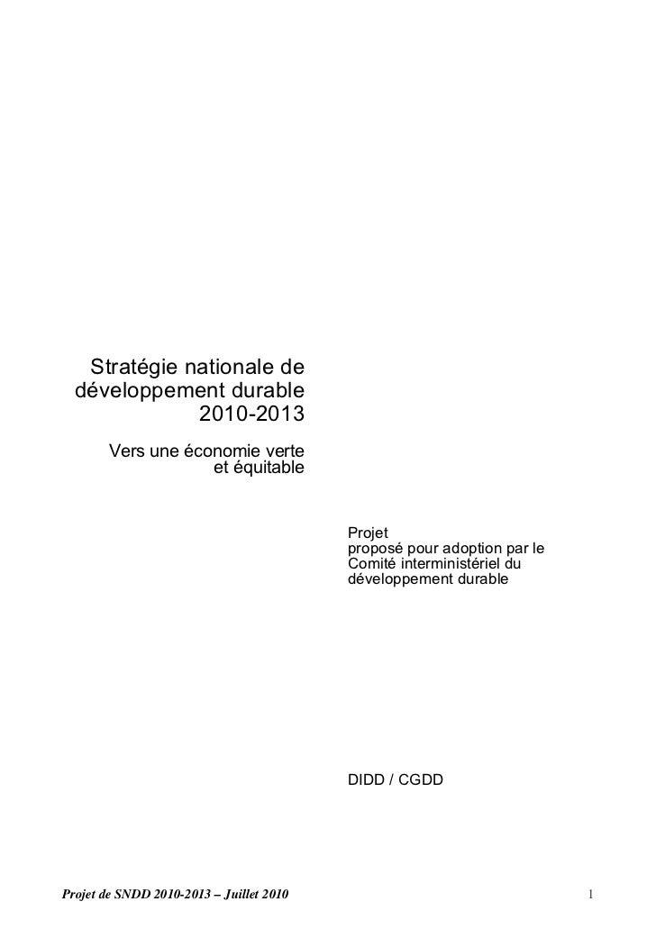 Insee stratégie nationale dd 2010 2013