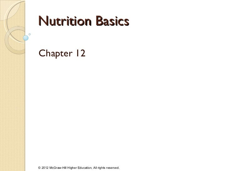 Health and Wellness Chapter 12