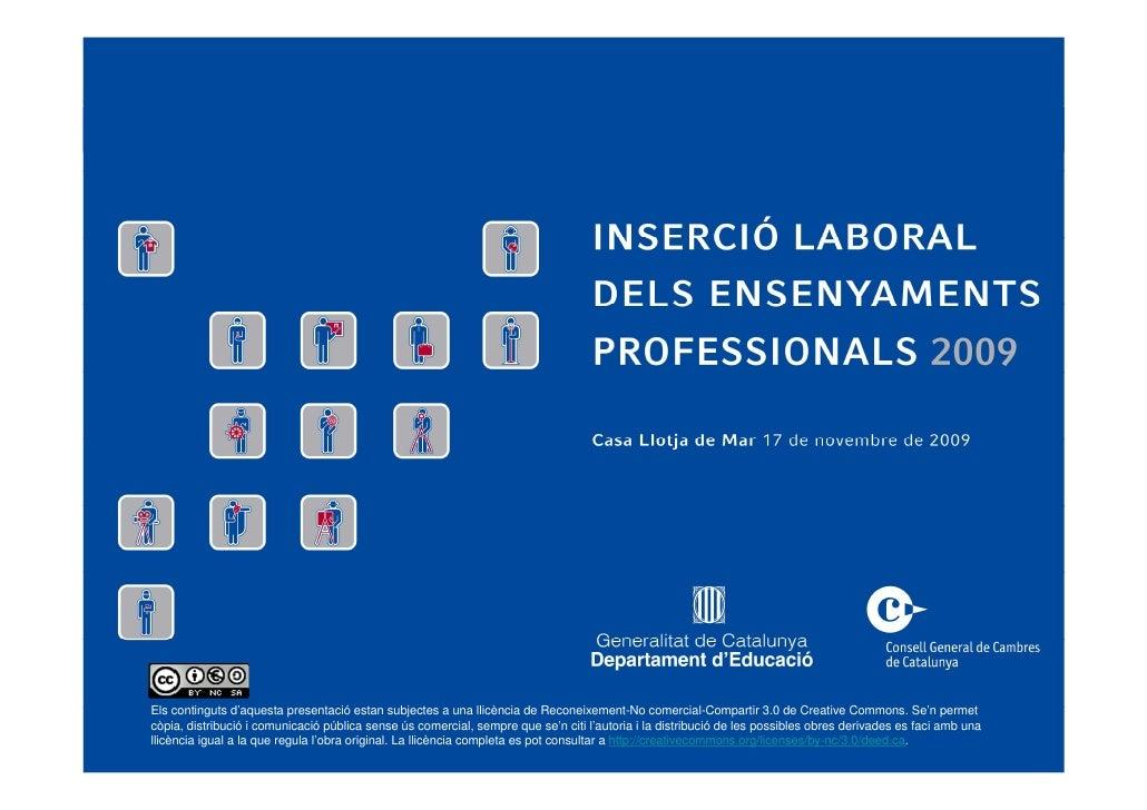 Inserció laboral dels ensenyaments professionals 2009