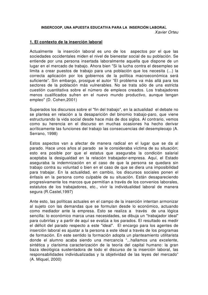 Insercoop una apuesta_educativa_para_la_insercion_laboral