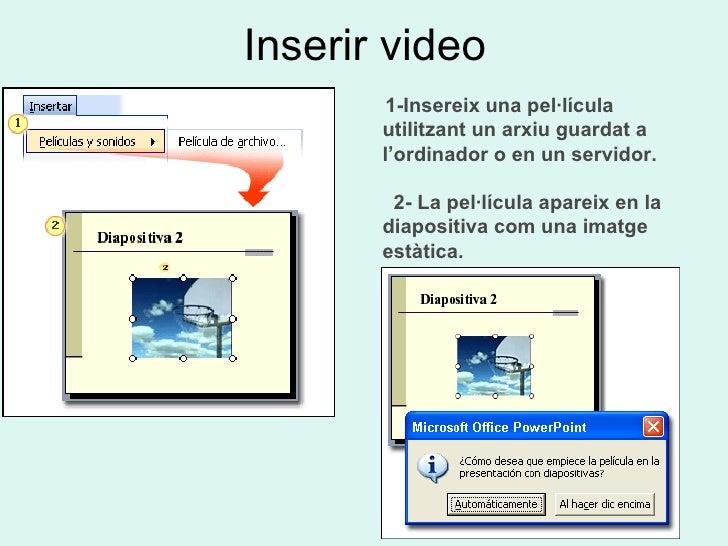 POWER POINT <ul><li>ARXIUS DE SO  </li></ul><ul><ul><li>Cercar </li></ul></ul><ul><ul><li>Inserir </li></ul></ul><ul><ul><...