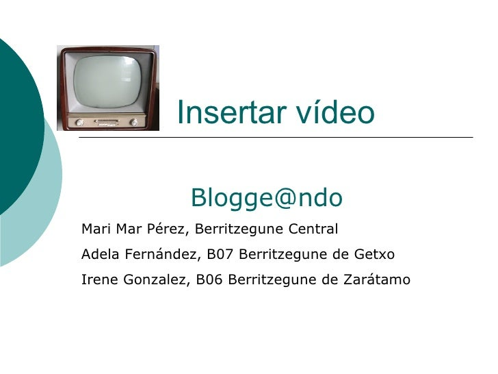 Insertar VíDeo Wikispaces