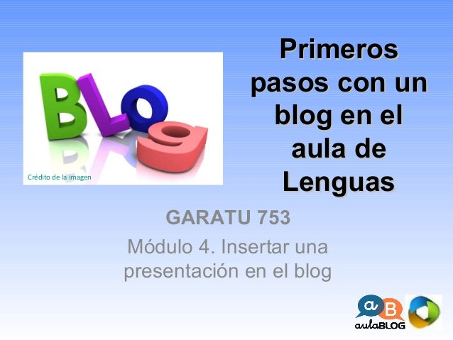 Insertar una presentación en el blog