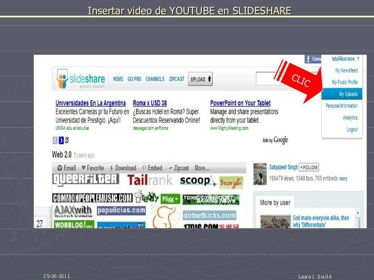 Insertar video de youtube en slideshare